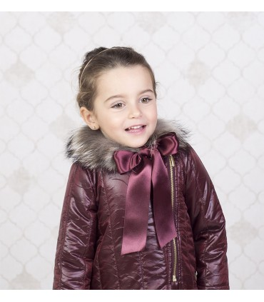 EVE CHILDREN GIRLS DARK RED ANORAK