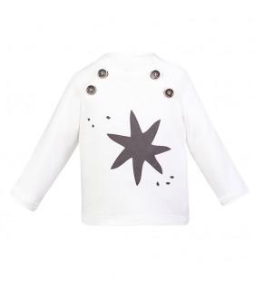 EVE CHILDREN UNISEX WHITE SWEATER STAR