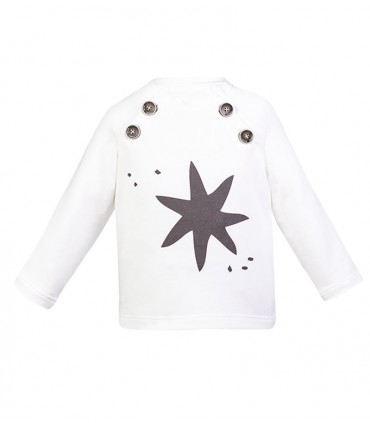 SWEAT BLANC ETOILLE EVE CHILDREN UNISEX