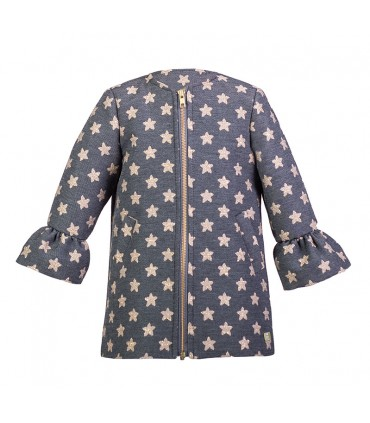EVE CHILDREN GREY COAT STARS