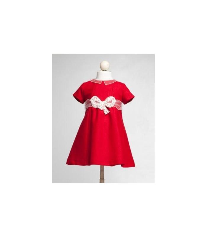 Vestido rojo con lazo de Fina Ejerique