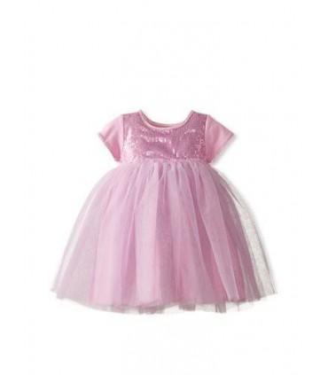Vestido rosa de fiesta niña
