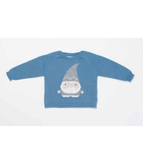 FINA EJERIQUE BABY BOY BLUE SWEATER GNOME