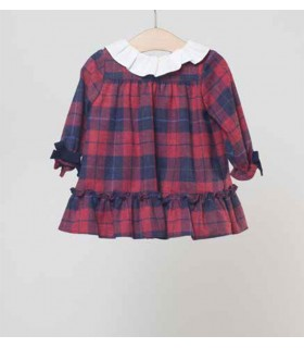 FINA EJERIQUE BABY GIRL RED CHECKED DRESS