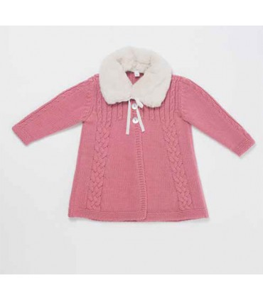 FINA EJERIQUE BABY GIRL PINK KNITTED COAT
