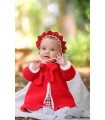 FOQUE BABY GIRL RED COAT