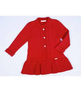 CESAR BLANCO GIRLS RED COAT