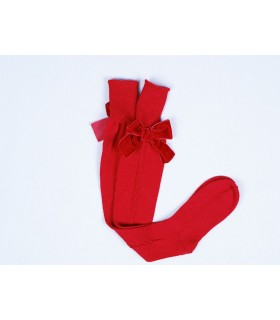 CESAR BLANCO GIRLS RED LONG SOCKS