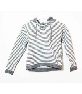 ANCAR GREY STRIPES SWEATER
