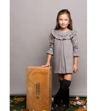 PILAR BATANERO LITTLE GIRLS GREY DRESS STARS