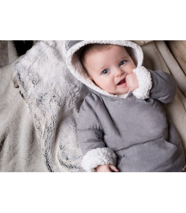 PILAR BATANERO BABY BOY GREY COAT