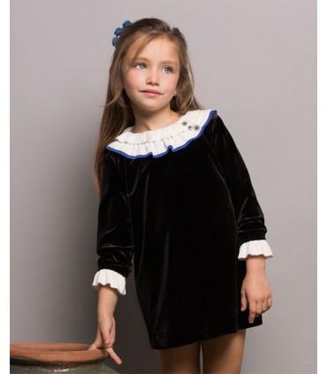 PILAR BATANERO LITTLE GIRLS BLACK DRESS