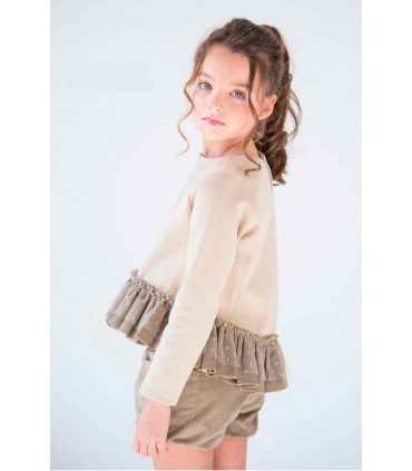 NUECES KIDS GIRLS BEIGE BLOOMERS