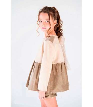 SWEAT BEIGE PETITE FILLE NUECES KIDS