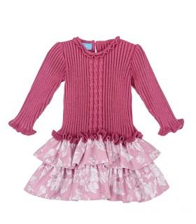 TARTALETA GIRLS PINK KNITTED DRESS