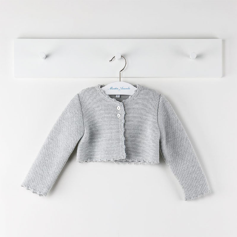 Abrigo punto gris niСЂС–РІВ±a