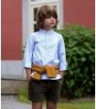 KIDS CHOCOLATE BOY BLUE STRIPED SHIRT