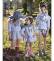 MON PETIT BONBON GIRLS GREY KNITTED DRESS