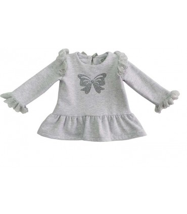 MON PETIT BONBON GIRLS SWEATER WITH FRILLS