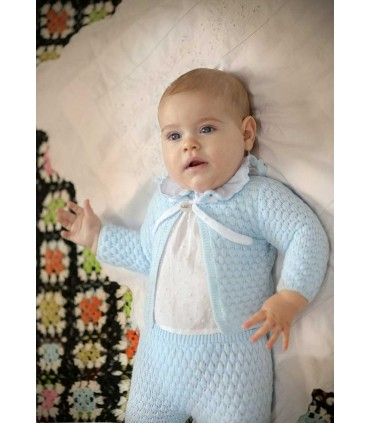 FOQUE BABY BOY KNITTED BLUE SET