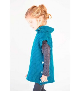 NUECES KIDS GIRLS BLUE PETROL CAPE