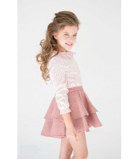 NUECES KIDS GIRLS PINK SKIRT ISABELLA