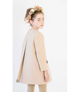 NUECES KIDS BEIGE GIRLS COAT NOA