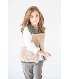NUECES KIDS GIRLS GREEN VEST