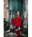 CESAR BLANCO GIRLS RED CARDIGAN