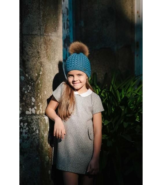 8786a0aab CESAR BLANCO GIRLS BLUE PETROL HAT