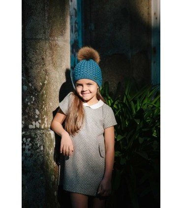 CESAR BLANCO GIRLS BLUE PETROL HAT