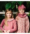 CESAR BLANCO GIRLS PINK NECK