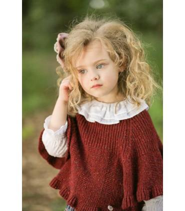 Manteau grenat petite fille Foque