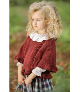 Foque Dark red 2 Piece Cotton Knitted Coat & Bonnet Set