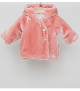FINA EJERIQUE BABY GIRL PINK COAT