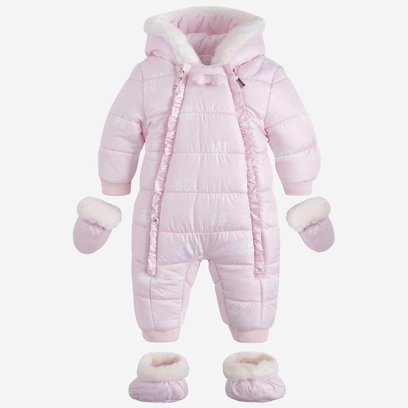 Mayoral Baby Girl Pramsuit Pink