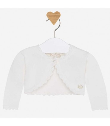 MAYORAL BABY GIRL IVORY CARDIGAN