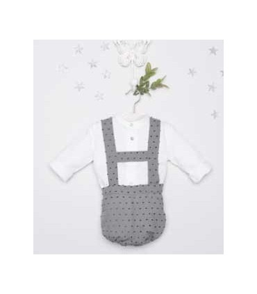 PILAR BATANERO BABY BOY 2 PIECES GREY SET