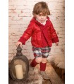 MARTIN ARANDA BABY BOY SET RED CHECKED