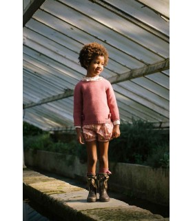 SWEAT PETITE FILLE ROSE CESAR BLANCO
