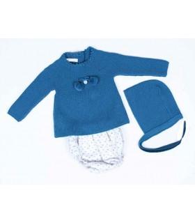 CESAR BLANCO BABY BLUE ROMPER