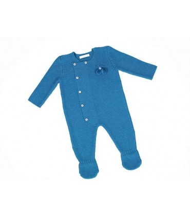 CESAR BLANCO BABY BLUE PETROL ROMPER