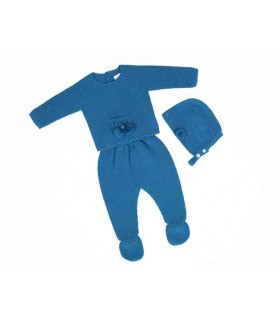 CESAR BLANCO BABY BLUE PETROL OUTFIT