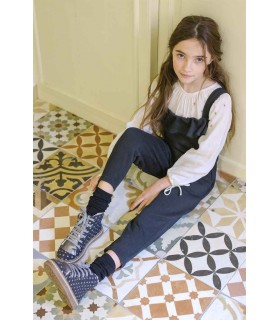 PLUMETI RAIN GIRLS BLACK OVERALLS