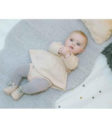 PLUMETI RAIN BABY GIRL CREAM DRESS