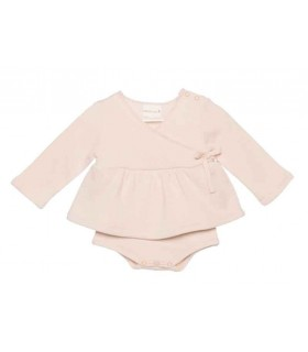 PLUMETI RAIN BABY GIRL CREAM DRESS