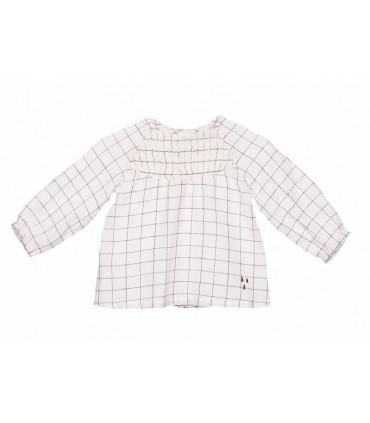 PLUMETI RAIN BABY CHECKED BLOUSE