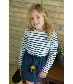 PLUMETI RAIN GIRLS BLUE STRIPES SWEATER