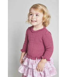 TARTALETA GIRLS PINK KNITTED DRESS