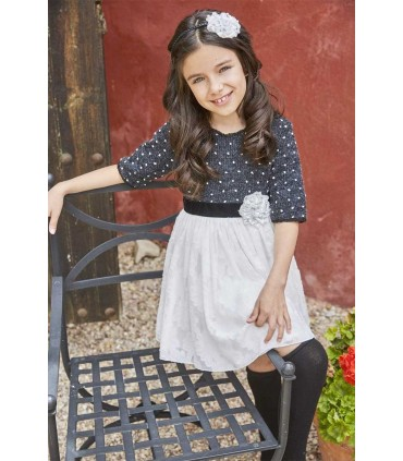 TARTALETA GIRLS BLACK AND WHITE DRESS